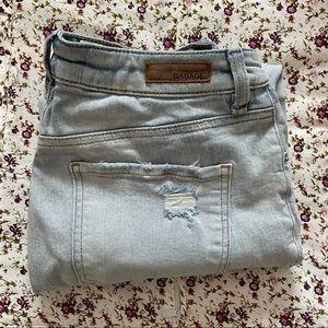 Light Wash Garage Boyfriend Ripped Jeans